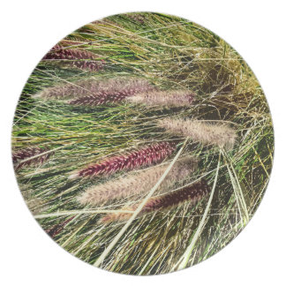 Pink Muhly Grass Dinner Plate