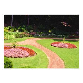 Pink Muir Gardens, Toronto, Ontario flowers Custom Invitation