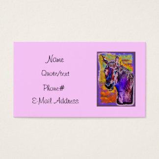 Pink Multi-Colored Horse Business Card