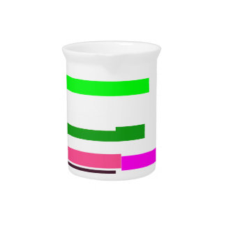 pink multicolor stripes with a white background pitcher