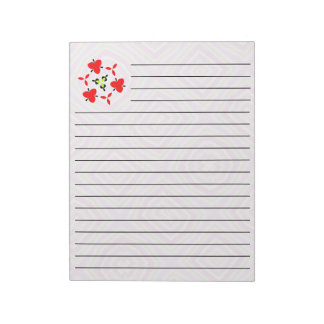 Pink Multicolored pattern Note Pad