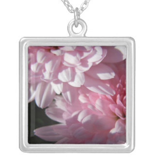 Pink Mum Duo Silver Plated Necklace