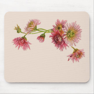 PINK MUMS by SHARON SHARPE Mouse Pad