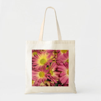 Pink Mums Canvas Tote Bag