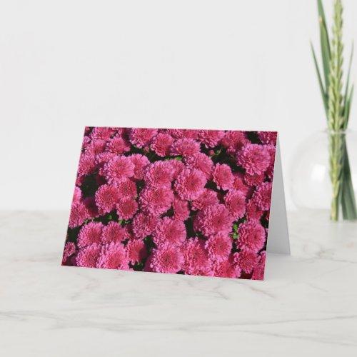 Pink Mums Card card