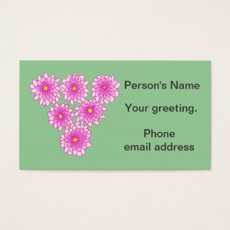 Pink Mums Flowers Chrysanthemums ID Cards