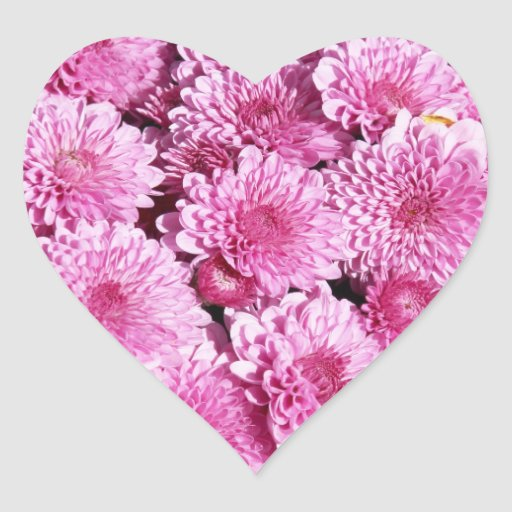 Pink mums heart stickers