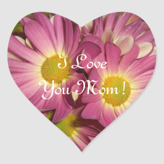 Pink Mums Mother's Day Sticker