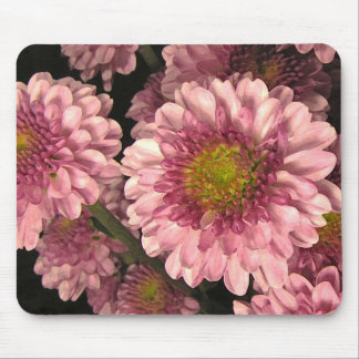 Pink Mums Mouse Pad