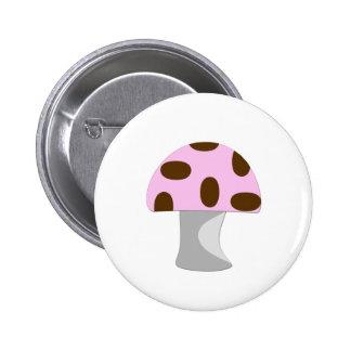 Pink Mushroom 2 Inch Round Button