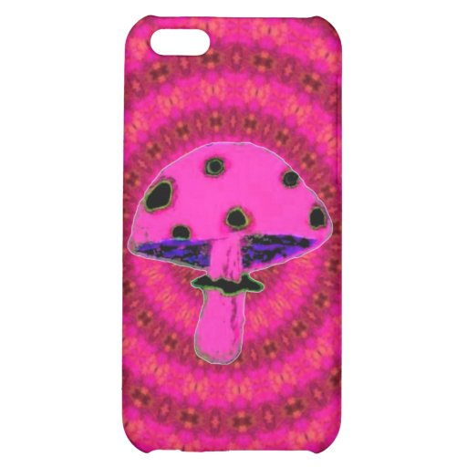 Pink Mushroom Cover For iPhone 5C
