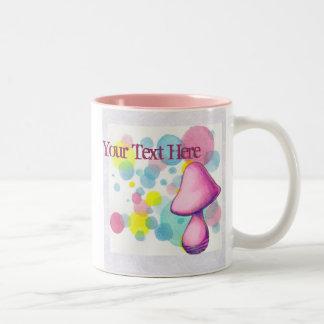 Pink Mushroom Mug