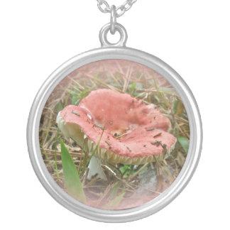 Pink Mushroom Necklace