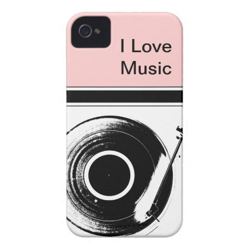Pink Music iPhone Cases iPhone 4 Covers