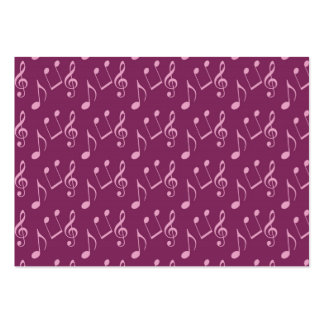 Pink Music Notes Business Card