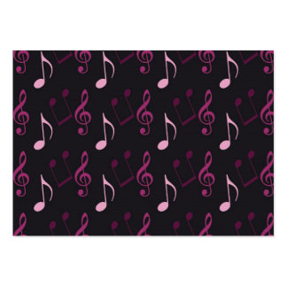 Pink Music Notes Business Card Templates