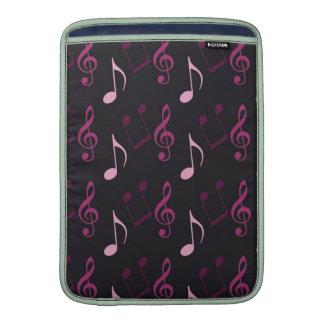 Pink Music Notes MacBook Air Sleeve