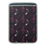 Pink Music Notes Sleeve For MacBook Air
