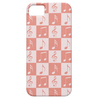 Pink Musical Checker Pattern iPhone SE/5/5s Case