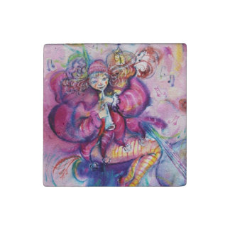 PINK MUSICAL CLOWN STONE MAGNET