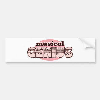 Pink Musical Genius Car Bumper Sticker