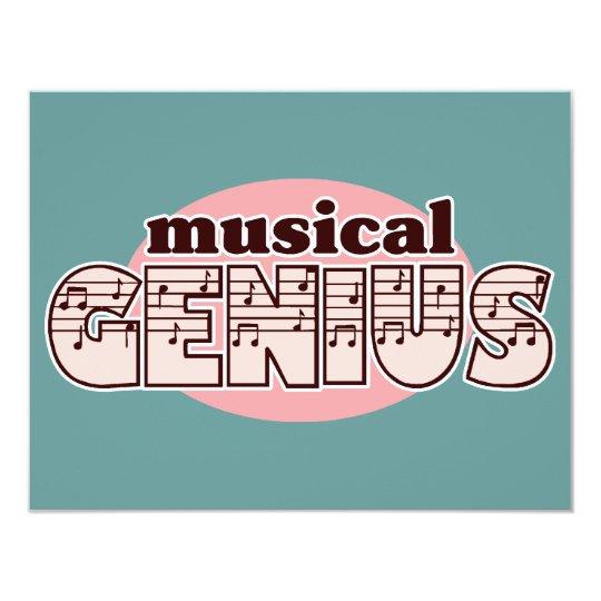 Pink Musical Genius Card