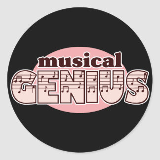 Pink Musical Genius Stickers