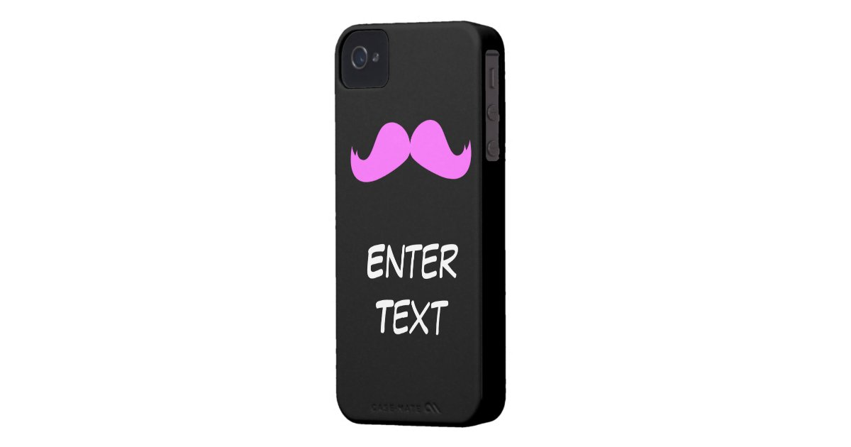 Pink Mustache Customize Your Iphone 4 4s Case Zazzle