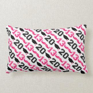 Pink Mustache Grad 2013 Pillow