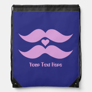 Pink Mustaches custom bag