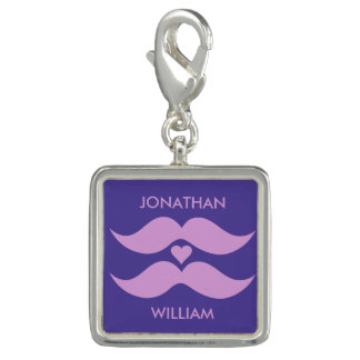Pink Mustaches custom charms & bracelets