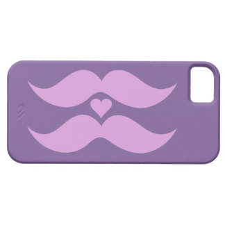 Pink Mustaches custom iPhone case