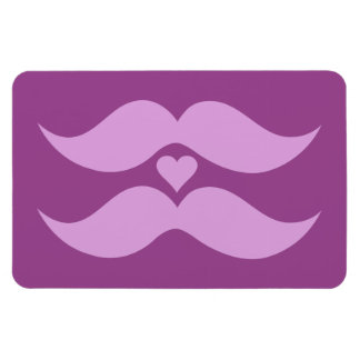 Pink Mustaches custom magnet
