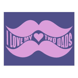 Pink Mustaches custom postcard