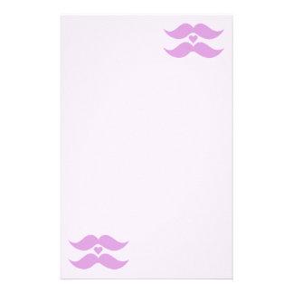 Pink Mustaches custom stationary Stationery