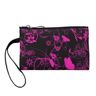 Pink n black Coin purse