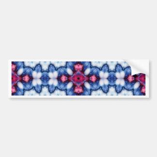 pink n blue kaleidoscope bumper sticker