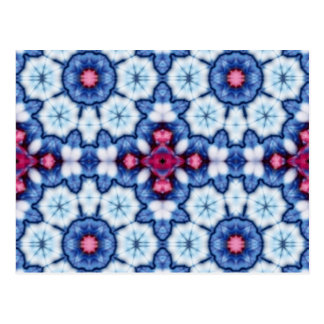 pink n blue kaleidoscope post cards