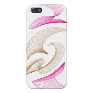 Pink-n-Brown - Swirlies iPhone SE/5/5s Case