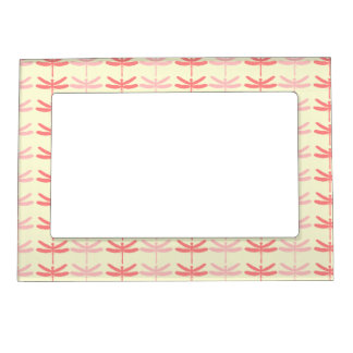 Pink-n-Coral Dragonflies Magnetic Picture Frame