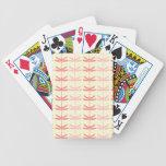 Pink-n-Coral Dragonflies Poker Cards