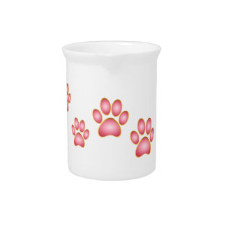 Pink 'n' Gold Kitty Paw Pitcher