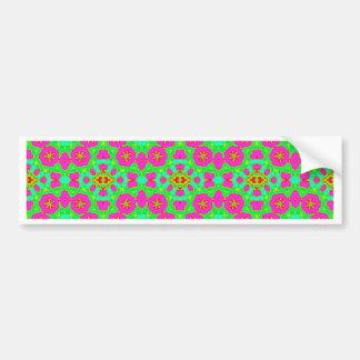 pink n green kaleidoscope bumper stickers