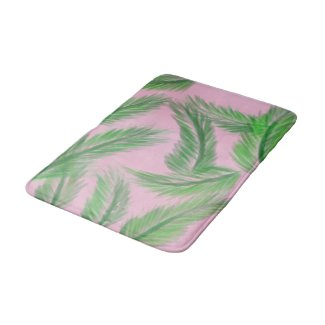 pink n' Palms bath mat