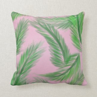 Pink n' Palms pillow