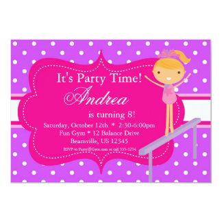 Pink n Purple polka dot Birthday Party Invitation