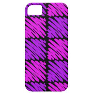 Pink-n-Purple Squiggles iPhone 5 Cases