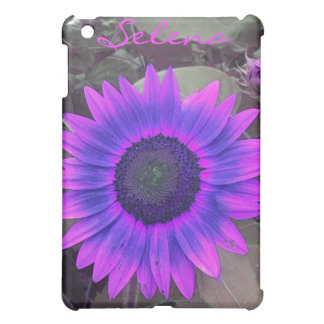 Pink N Purple Sunflower iPad case *personalize*