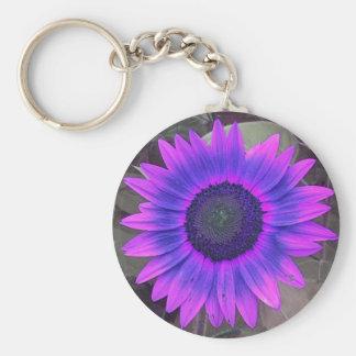 Pink N purple Sunflower Keychain