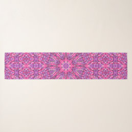 Pink n Purple Vintage Kaleidoscope  Chiffon Scarf